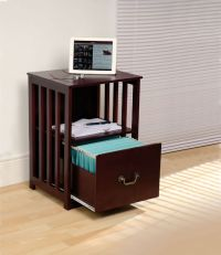 ZZZ Filing Cabinet Side Table Mahogany